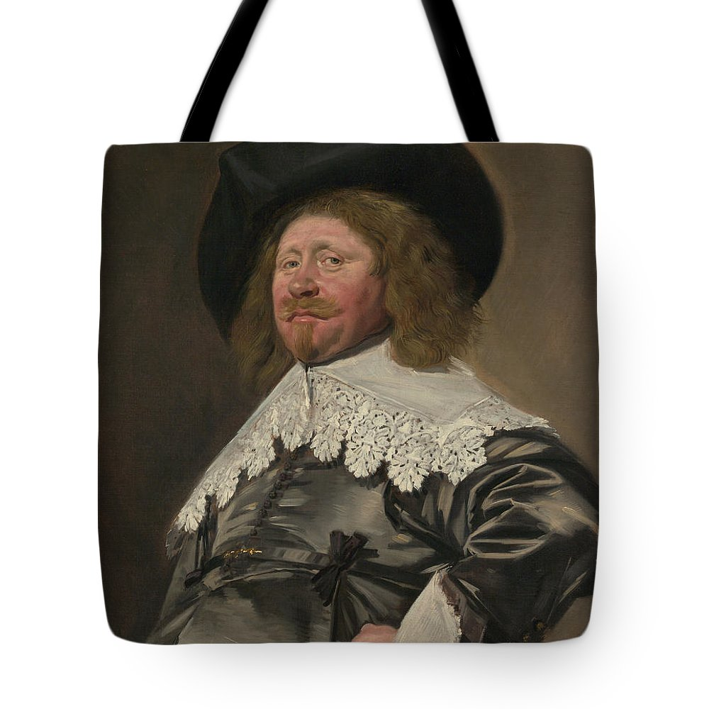 Frans Hals Tote Bag featuring the painting Portrait Of A Man Possibly Nicolaes Pietersz Duyst Van Voorhout by Frans Hals