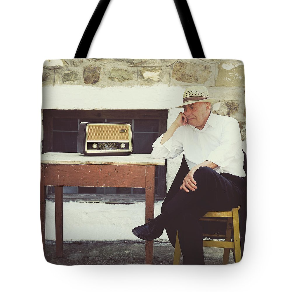 People Tote Bag featuring the photograph Portrait Of A Senior Man by Thanasis Zovoilis
