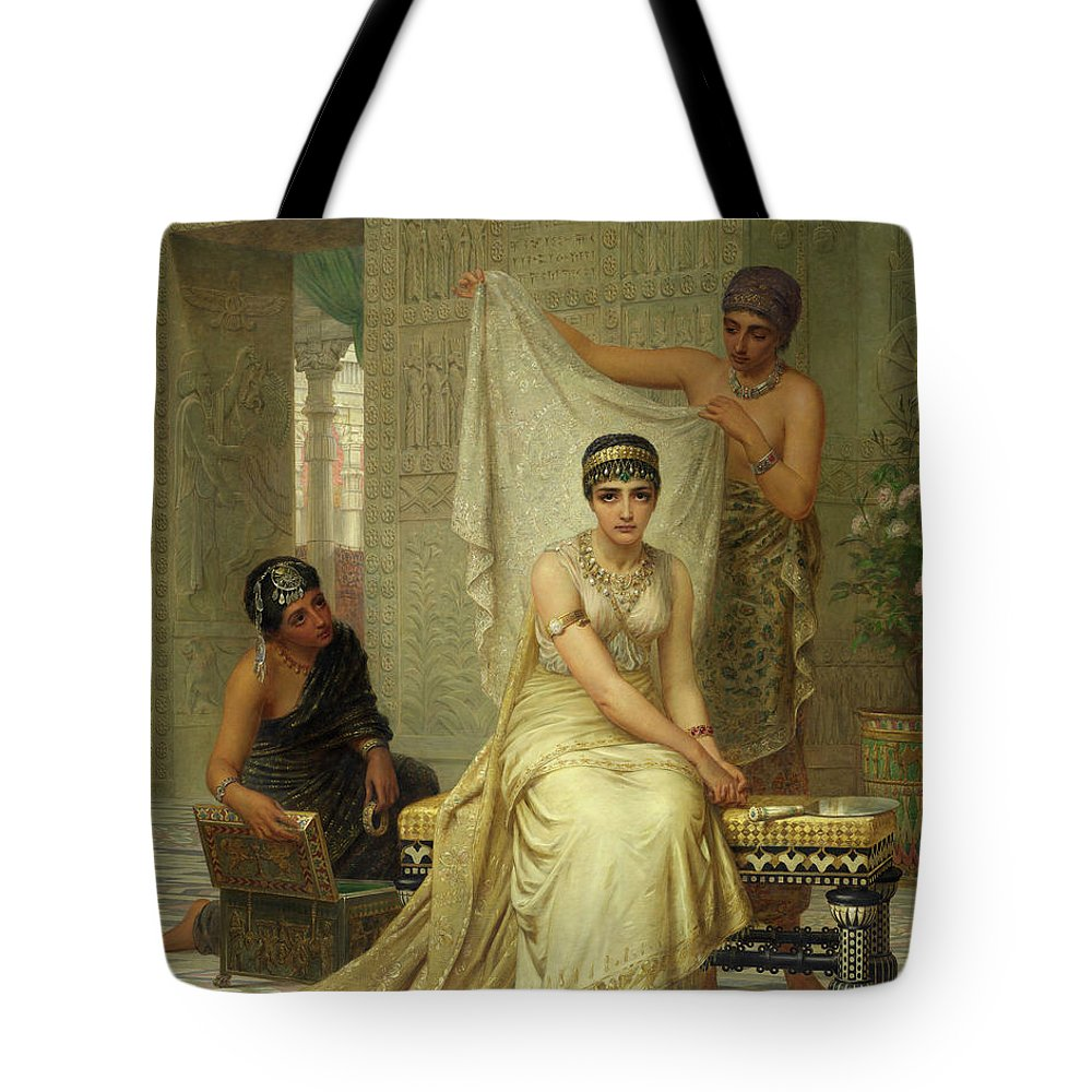 Queen Esther Tote Bag featuring the painting Queen Esther by Edwin Long