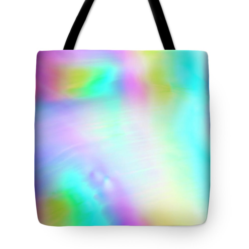 Yellow Tote Bag featuring the photograph Shiny Multi Colored Background by Level1studio