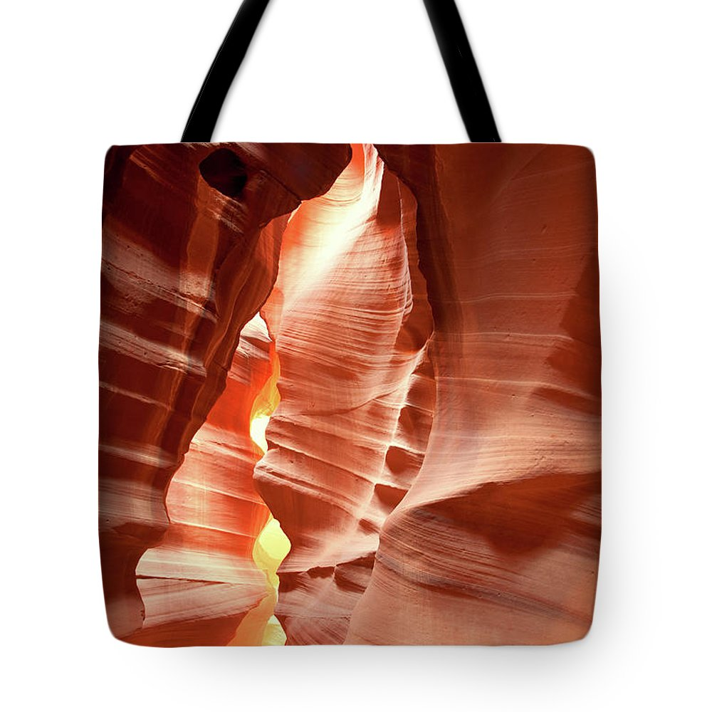Toughness Tote Bag featuring the photograph Slot Canyon by Colin Sands