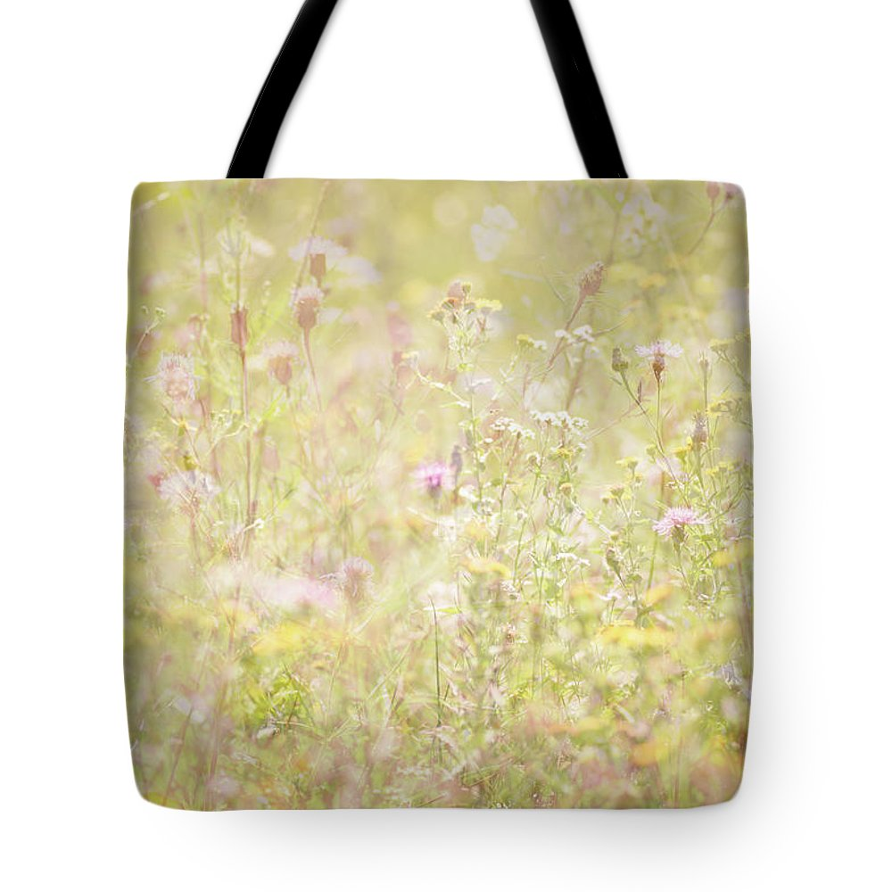 Flower Tote Bag featuring the photograph Summer Meadow by Jo Stephen