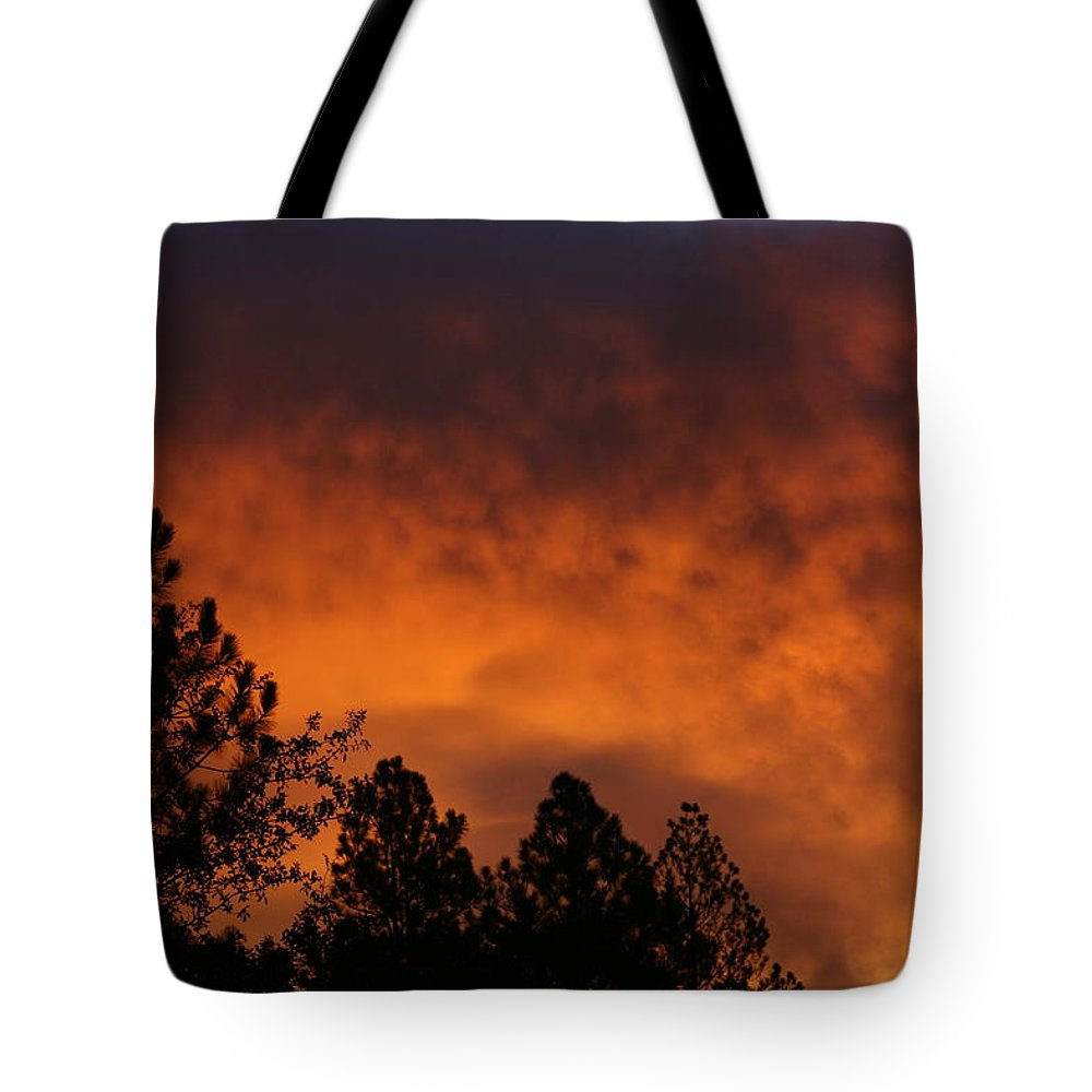 Red Tote Bag featuring the photograph Sunrise by Cathy Harper
