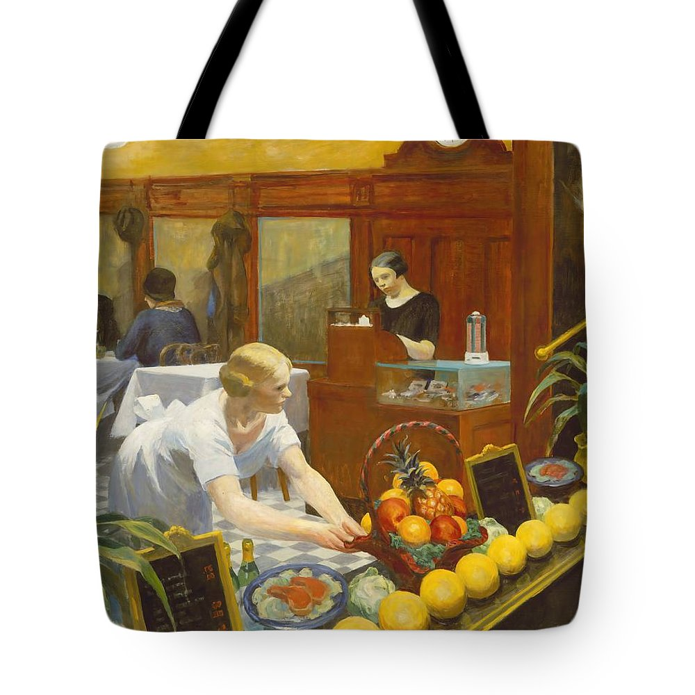 Edward Hopper Tote Bag featuring the painting Tables For Ladies by Edward Hopper