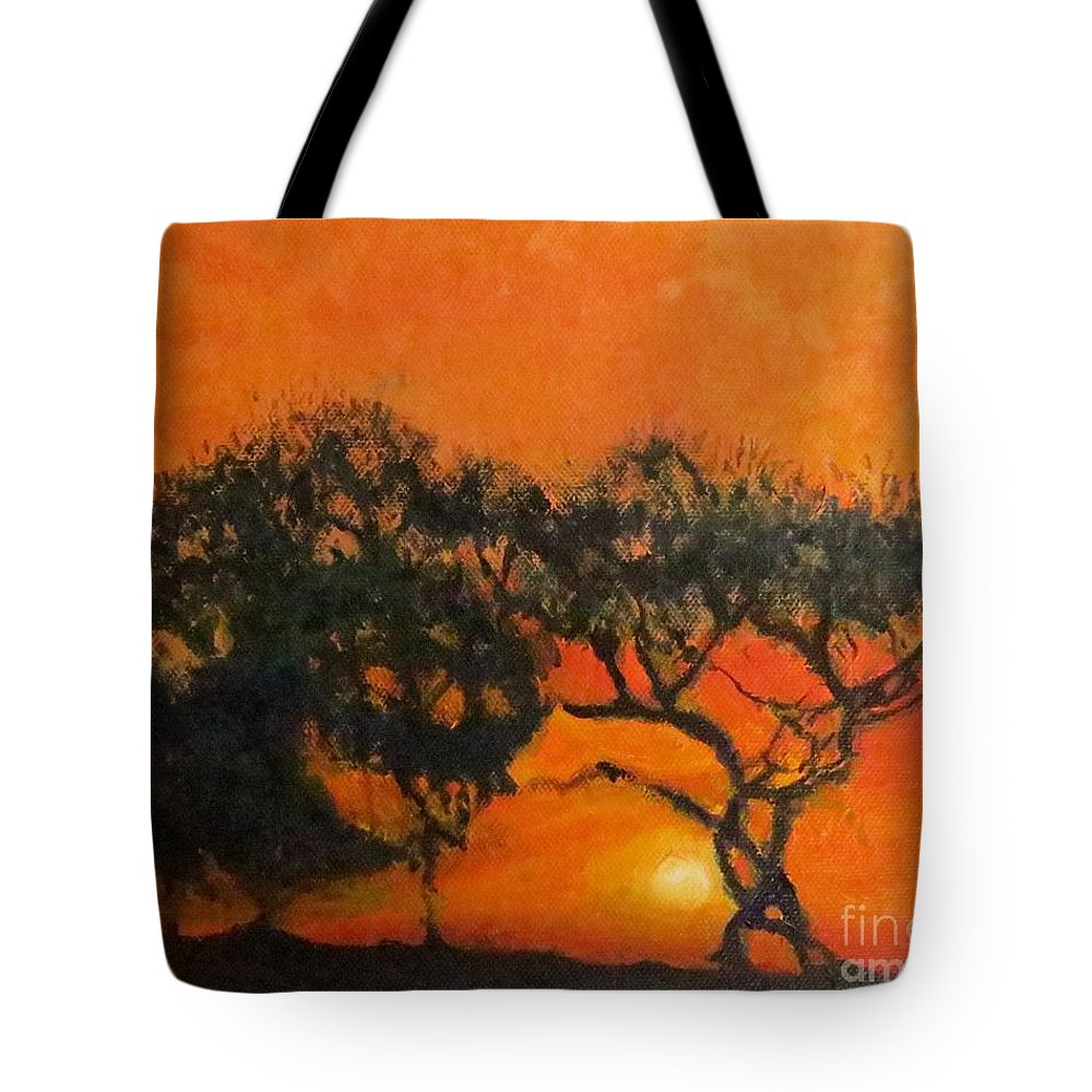 Trees Tote Bag featuring the painting Tango Tree by Caroline Cunningham