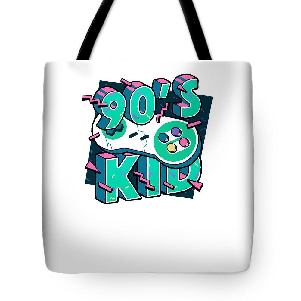 Gift Tote Bag featuring the mixed media The 90s Gaming Born In The 90s Old Time Gaming by Cameron Fulton