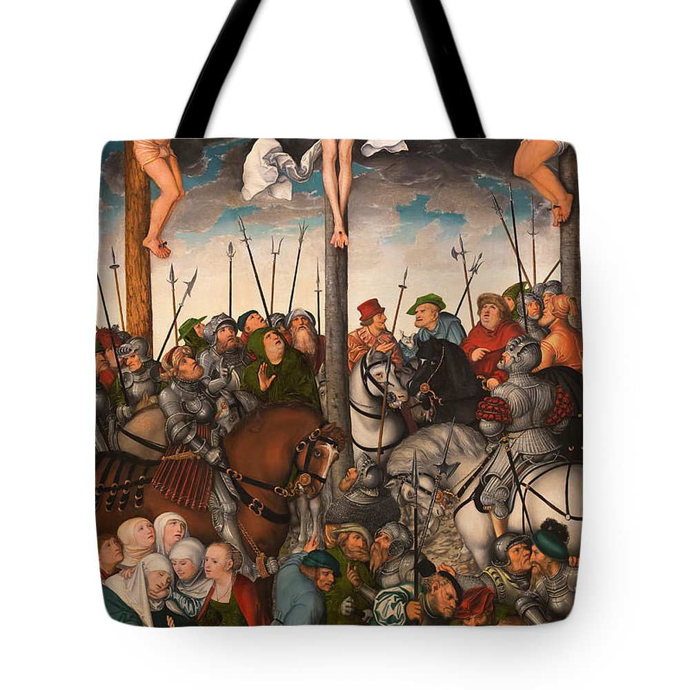 1538 Tote Bag featuring the photograph The Crucifixion by Peter Barritt