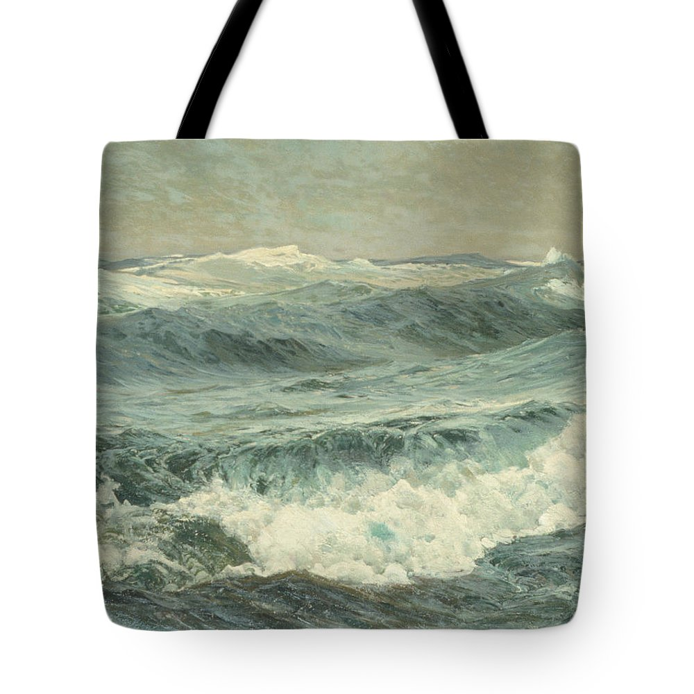 Frederick J. Waugh Tote Bag featuring the painting The Roaring Forties by Frederick J Waugh