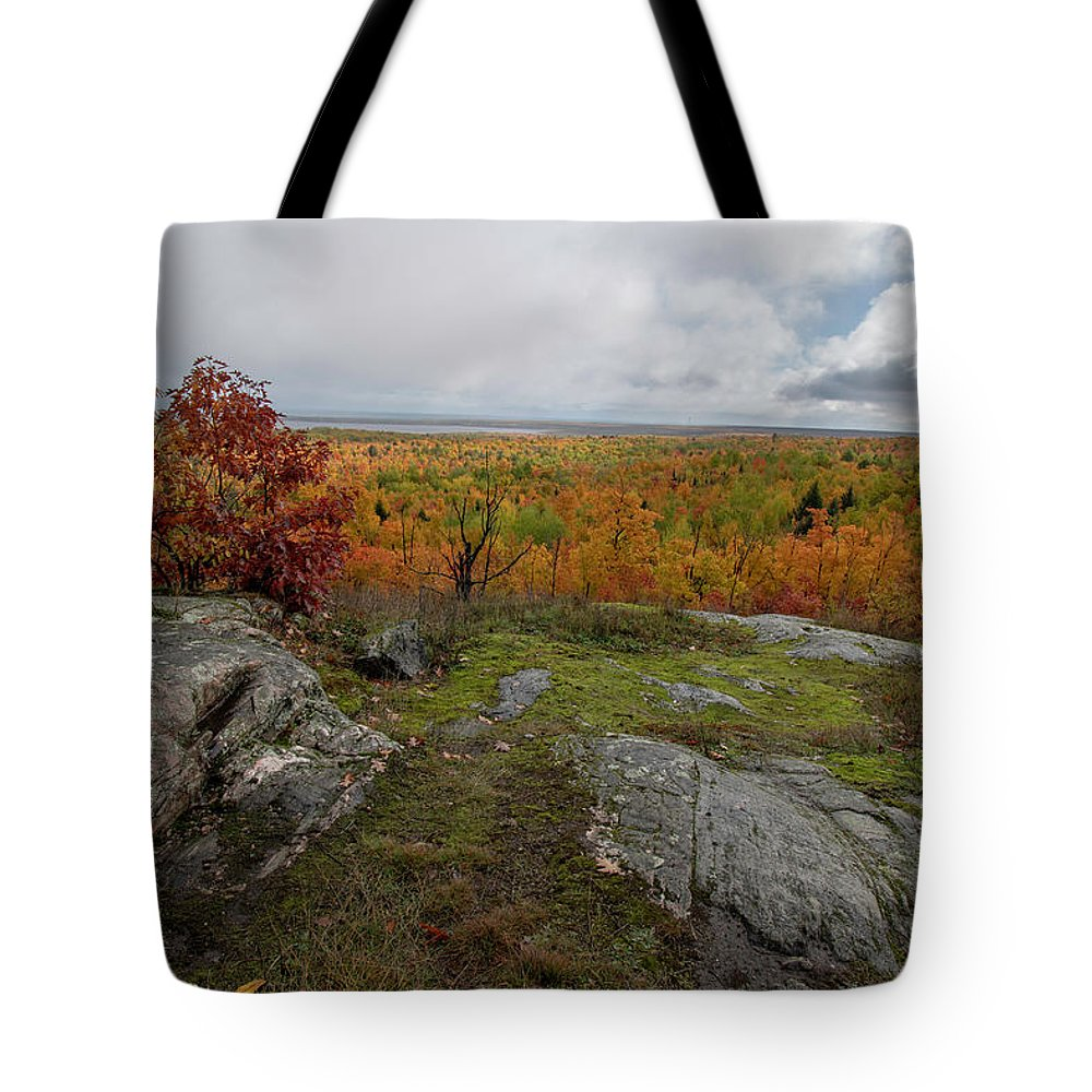 Fall Tote Bag featuring the photograph Thomas Rock Scenic Overlook 10111801 by Rick Veldman