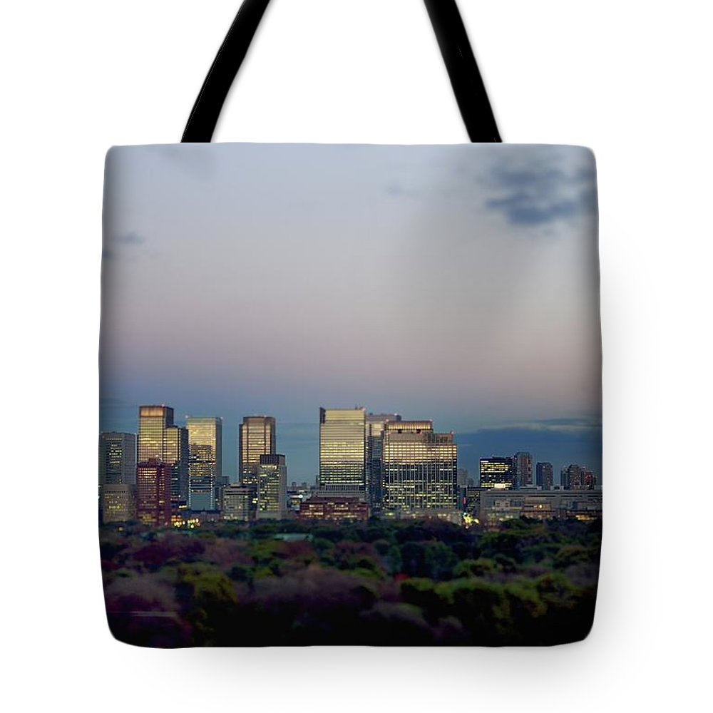 Financial District Tote Bag featuring the photograph Tokyo Marunouchi by Vladimir Zakharov