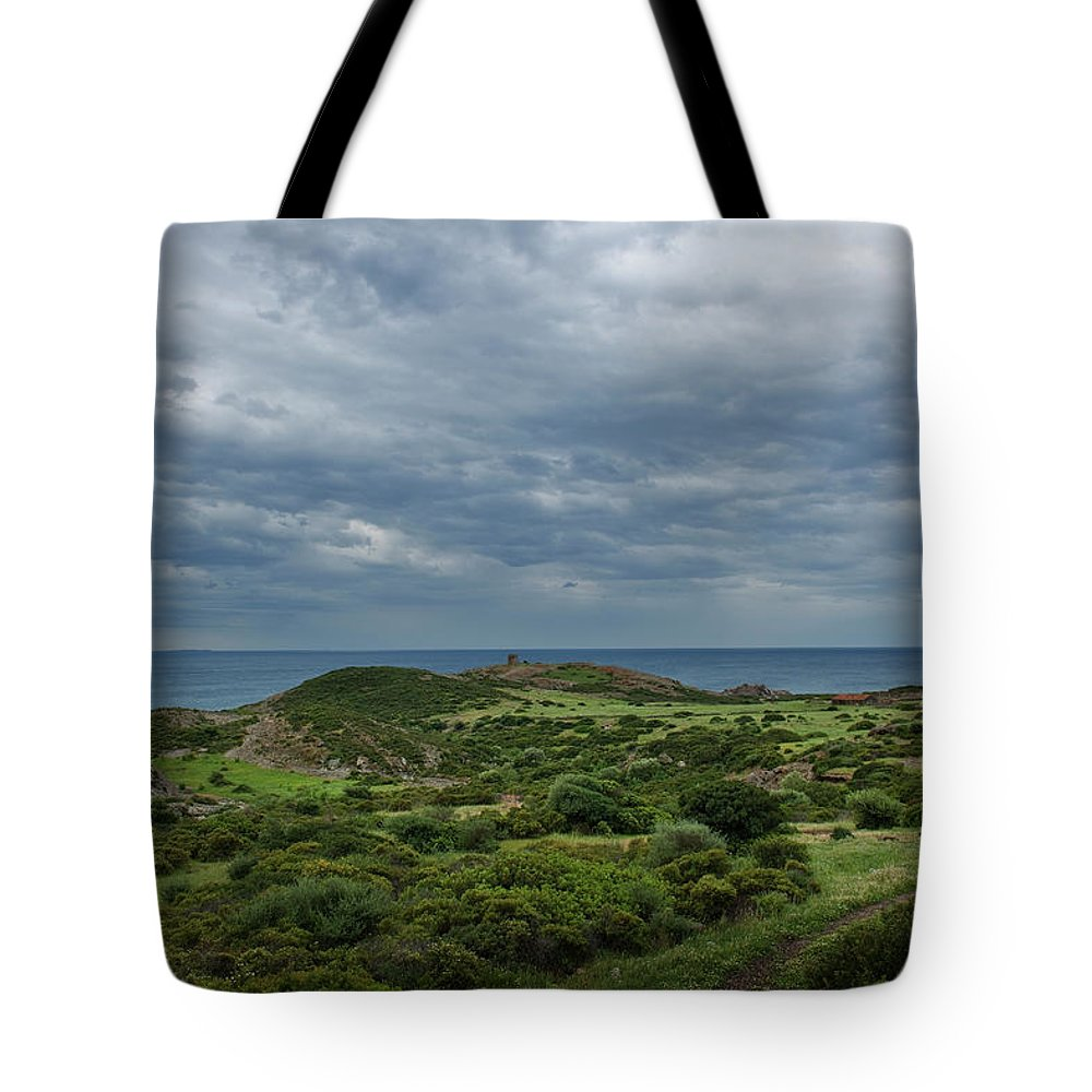 Scenics Tote Bag featuring the photograph Torre Argentina Promontory by Maremagnum