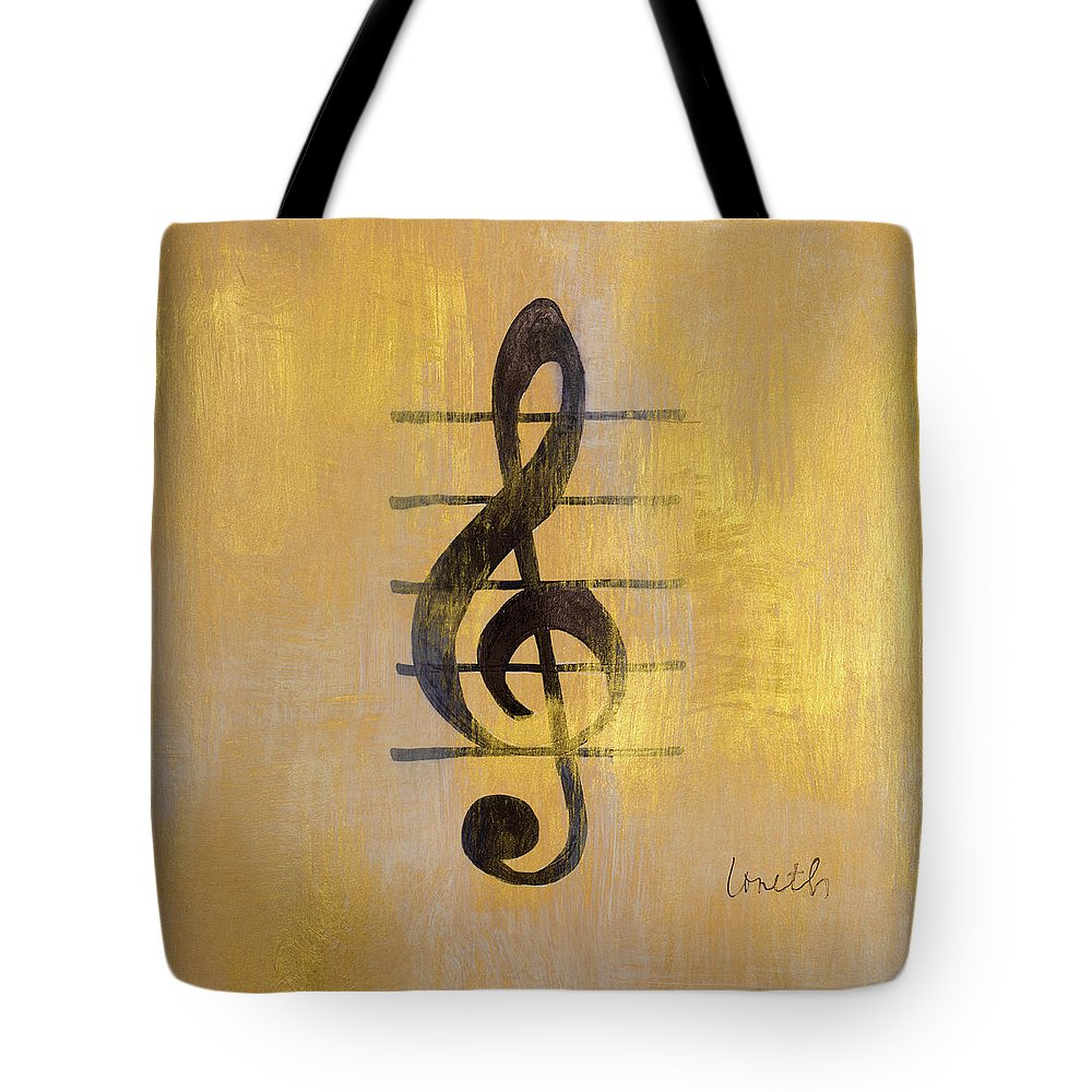 Treble Tote Bag featuring the painting Treble Clef by Lanie Loreth