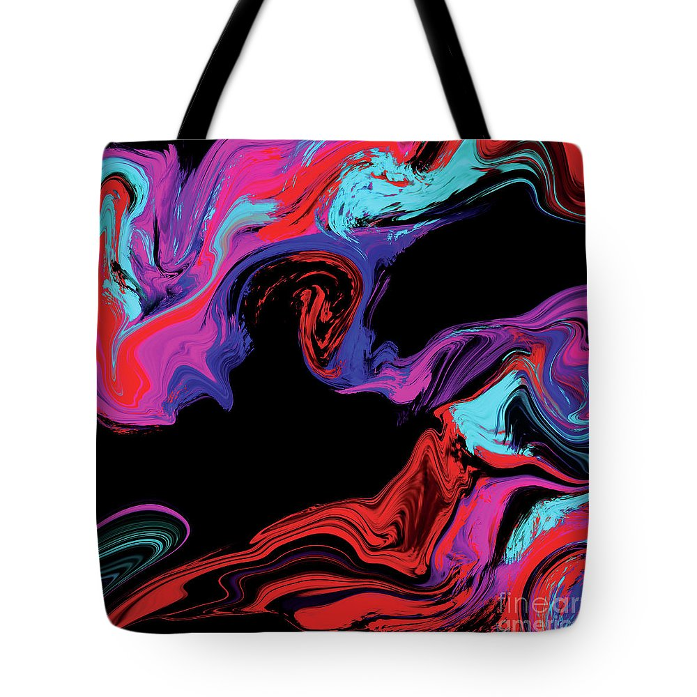 Abstract Tote Bag featuring the digital art Untitled by Ashley Barlow