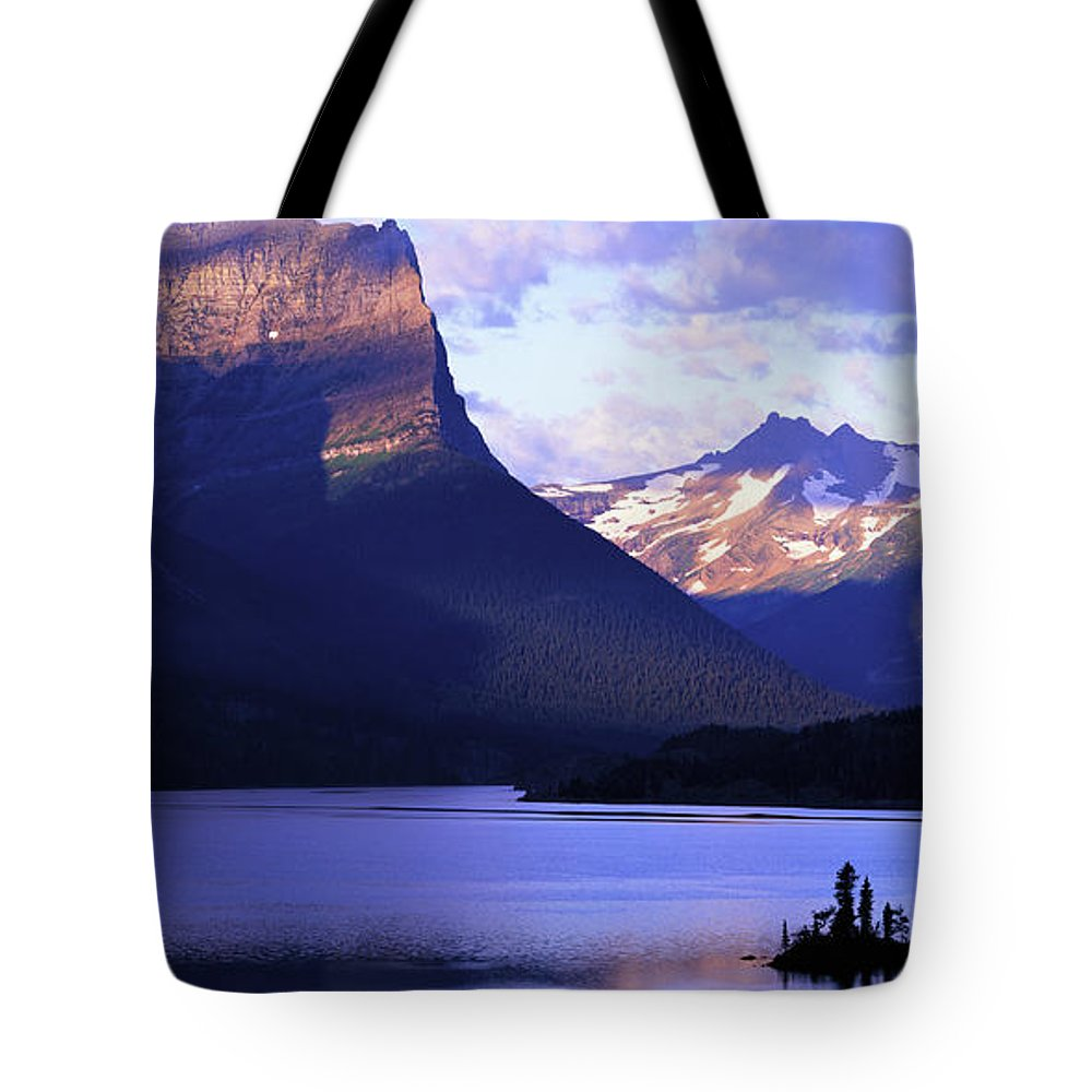 Scenics Tote Bag featuring the photograph Usa, Montana, Glacier Np, Mountains by Paul Souders
