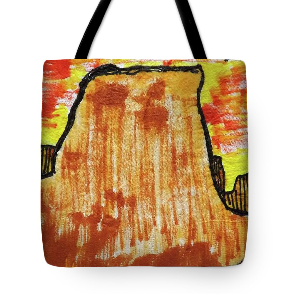 Western Hills Tote Bag featuring the mixed media Western Hills 4 by Don Koester