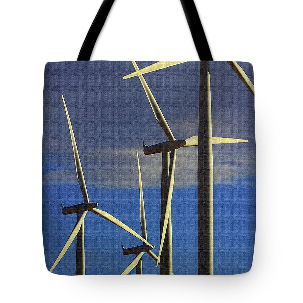Wind Power Art Tote Bag featuring the digital art Wind Power Art by Tom Janca