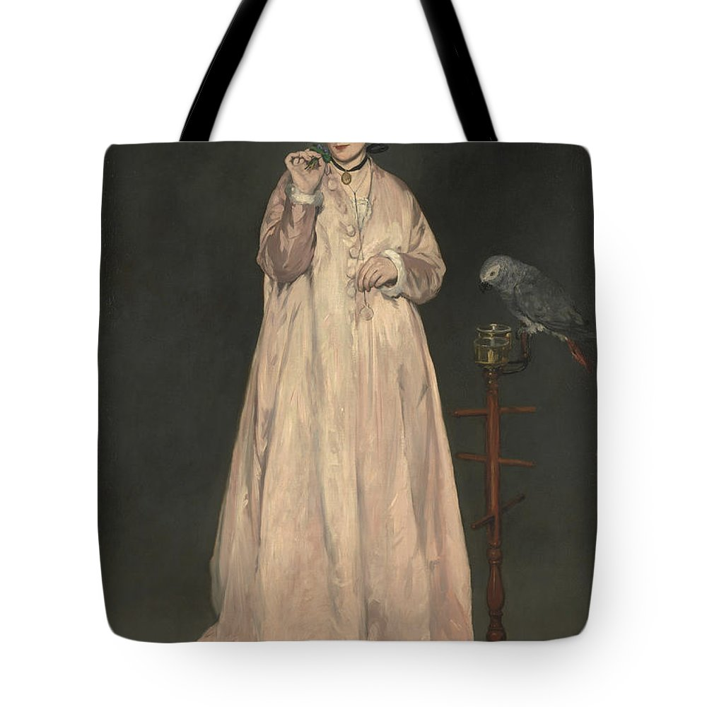 Edouard Manet Tote Bag featuring the painting Young Lady In  by Edouard Manet