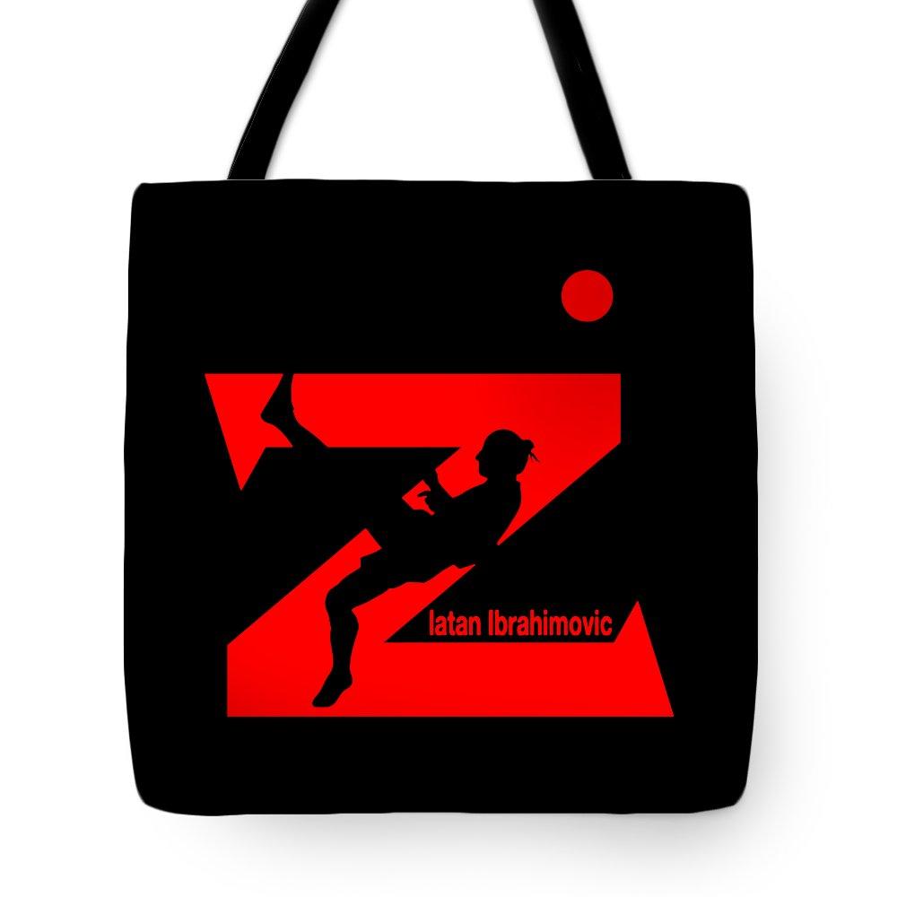 Zlatan Tote Bag featuring the digital art Zlatan Ibrahimovic by Carles Mob