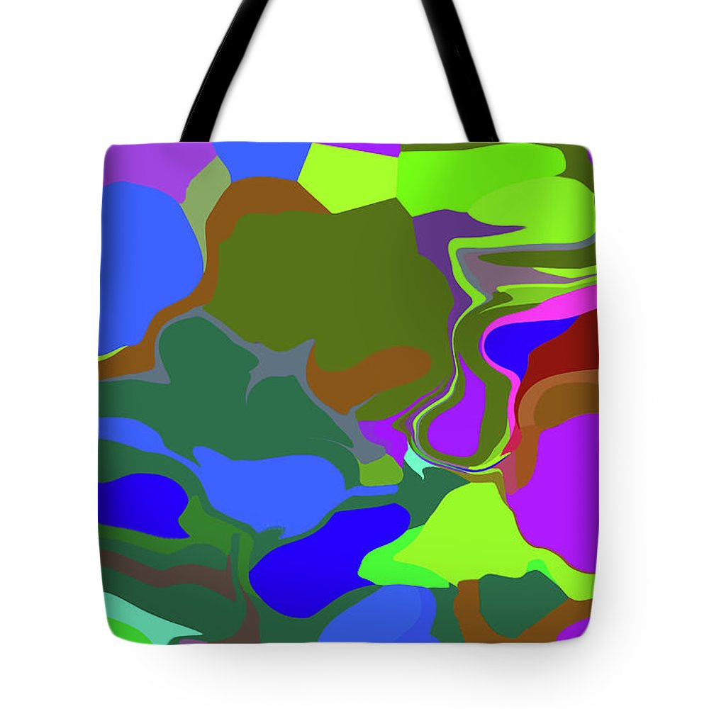 Walter Paul Bebirian Tote Bag featuring the digital art 10-19-2008abcdefg by Walter Paul Bebirian