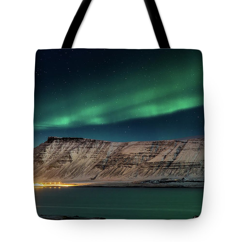Scenics Tote Bag featuring the photograph Aurora Borealis Or Northern Lights by Arctic-images