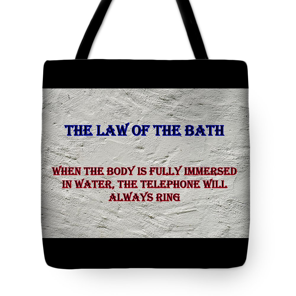 Advice Tote Bag featuring the photograph Murphy's Law Of Nature by Robert Kinser