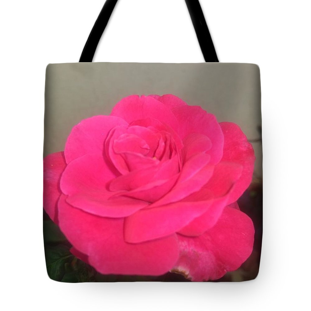 Tote Bag featuring the photograph Pink Rose by Nimu Bajaj and Seema Devjani
