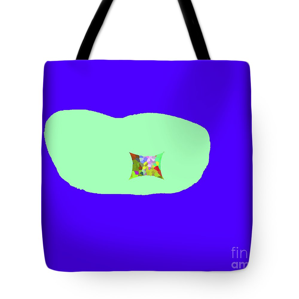 Walter Paul Bebirian Tote Bag featuring the digital art 11-18-2009kabcdef by Walter Paul Bebirian