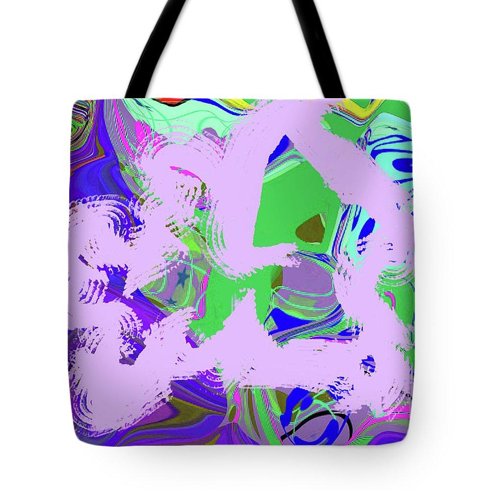 Walter Paul Bebirian Tote Bag featuring the digital art 11-29-2015eabcdefghijk by Walter Paul Bebirian