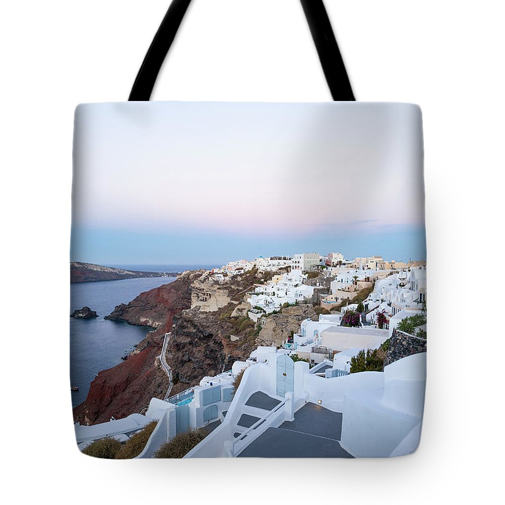Tranquility Tote Bag featuring the photograph Santorini Greece by Neil Emmerson