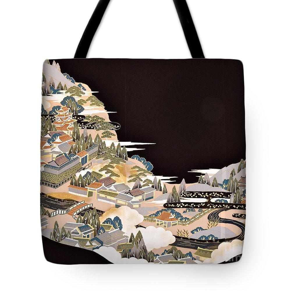 Tote Bag featuring the digital art Spirit of Japan T72 by Miho Kanamori