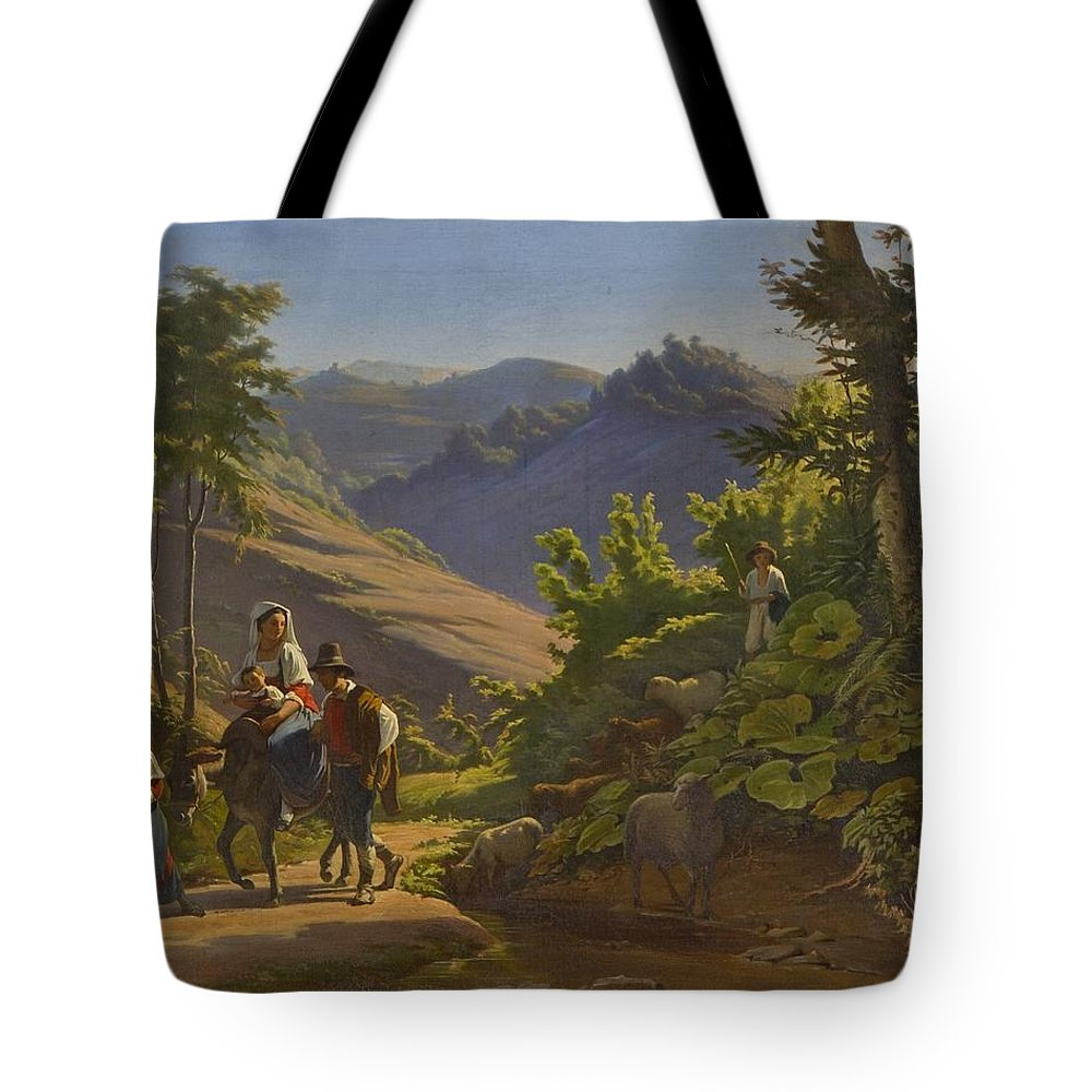 Johan Blackstadius (1816-1898) Tote Bag featuring the painting Landscape by MotionAge Designs