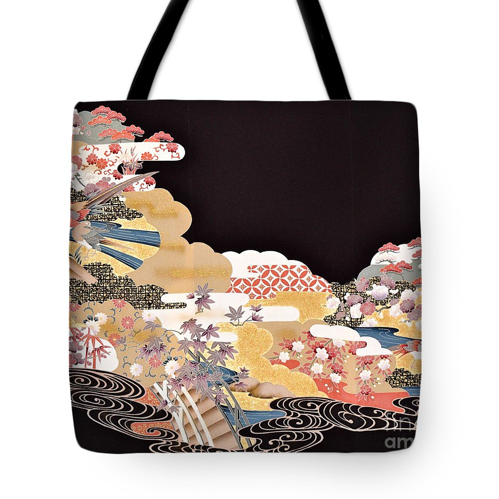 Tote Bag featuring the digital art Spirit of Japan T65 by Miho Kanamori