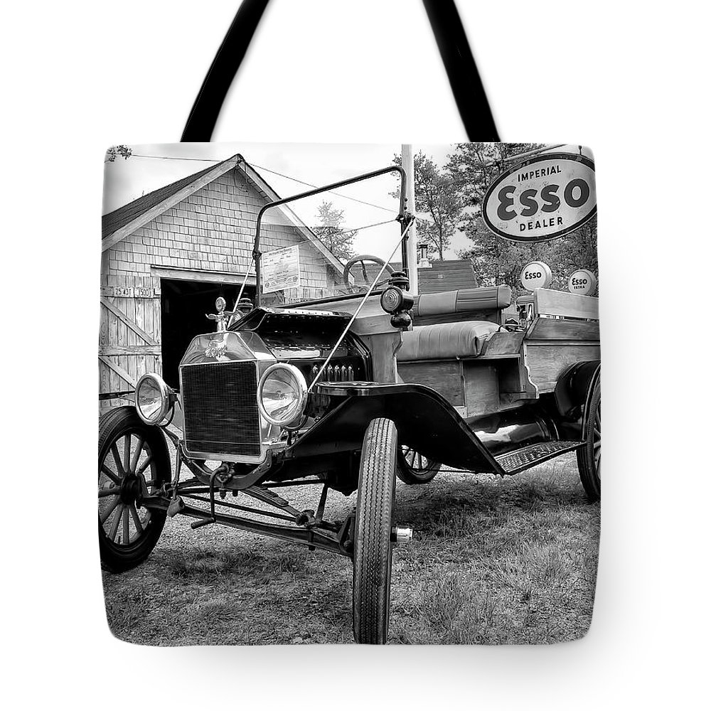 1915 Tote Bag featuring the digital art 1915 Ford Model T Truck by Ken Morris