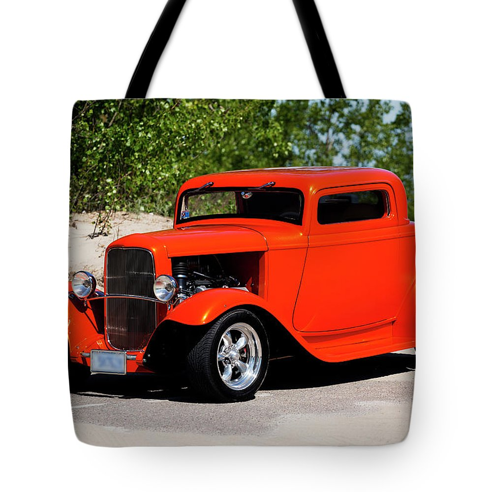 1932 Tote Bag featuring the photograph 1932 Ford 3 Window Coupe by Performance Image