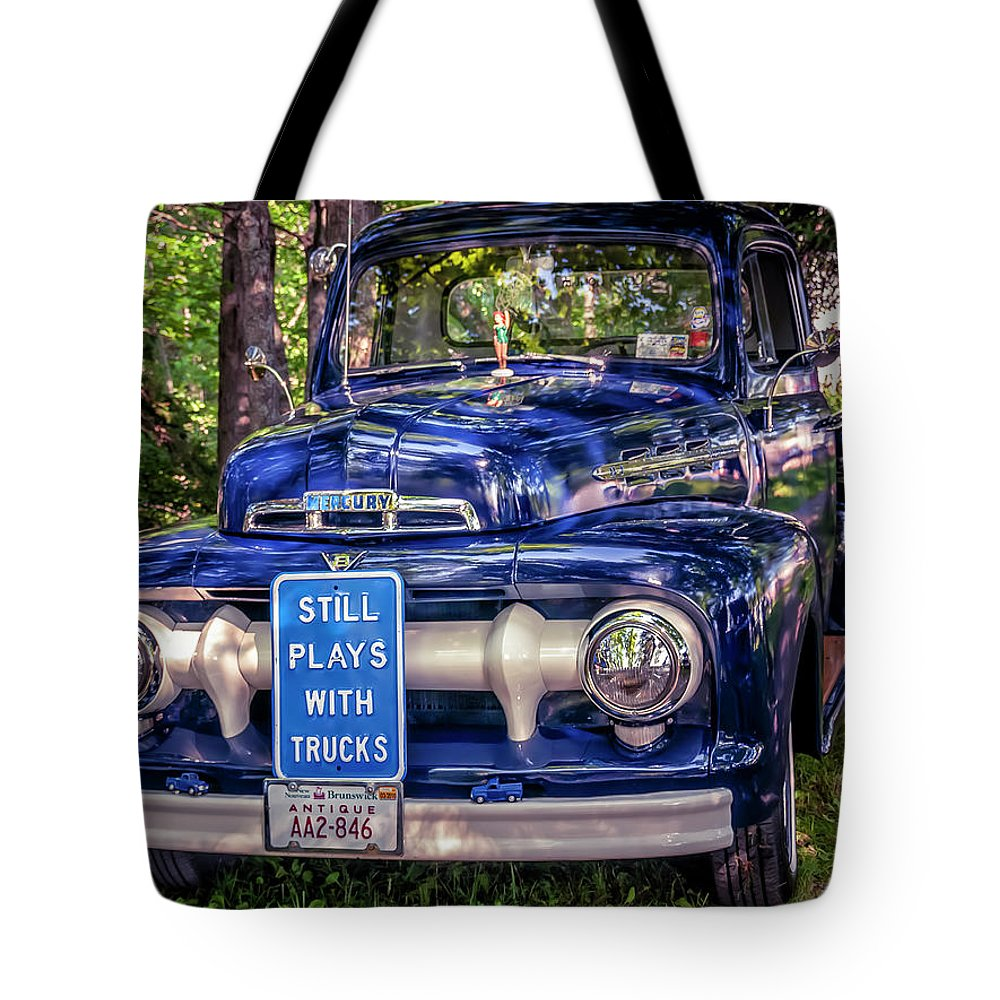 1951 Tote Bag featuring the photograph 1951 Mercury Pickup Truck by Ken Morris
