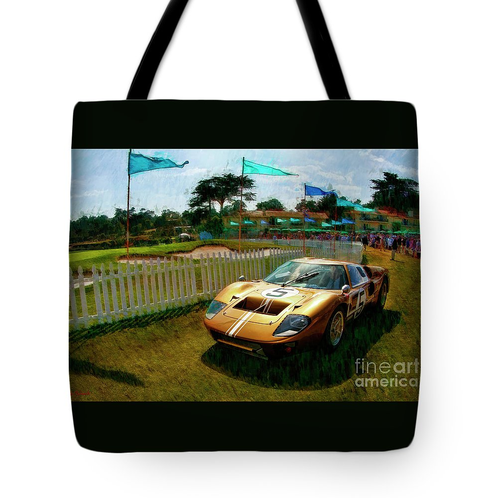 Ford Gt Tote Bag featuring the photograph 1966 Ford Gt 40mark 11b Coupe by Blake Richards