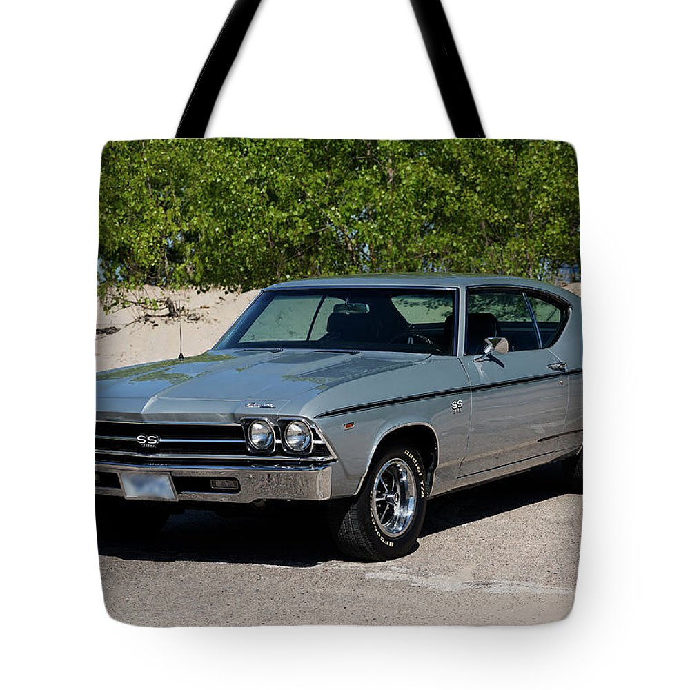 1969 Tote Bag featuring the photograph 1969 Chevrolet Chevelle Ss 396 by Performance Image