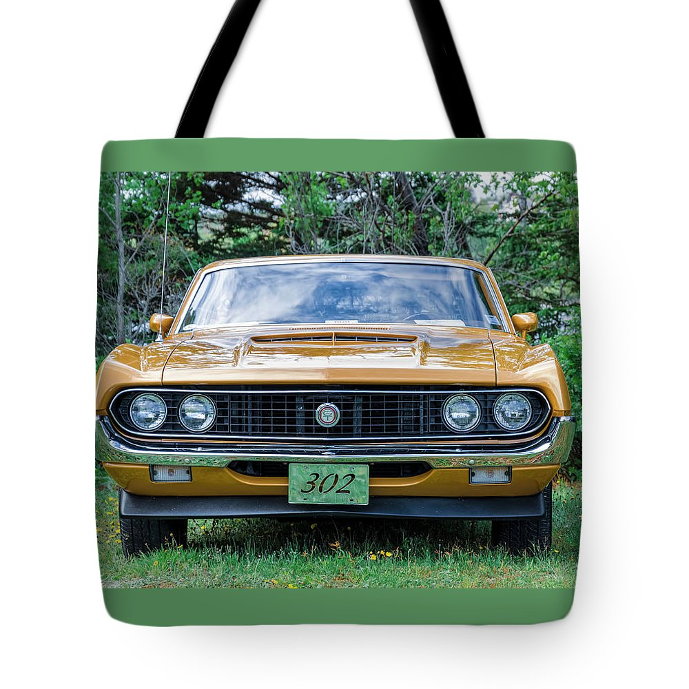1970 Tote Bag featuring the photograph 1970 Ford Torino Gt by Ken Morris