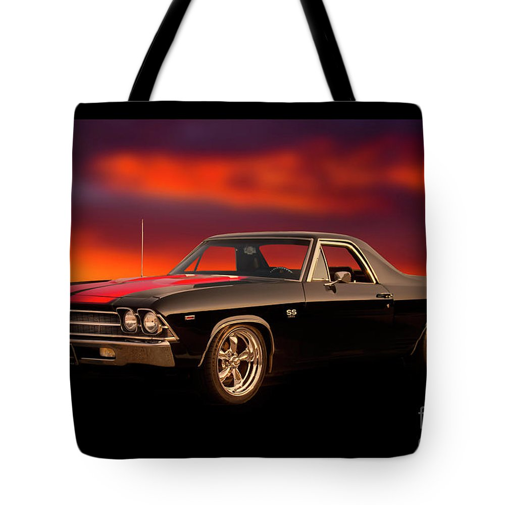 Automobile Tote Bag featuring the photograph 1969 Chevrolet El Camino Ss396 by Dave Koontz