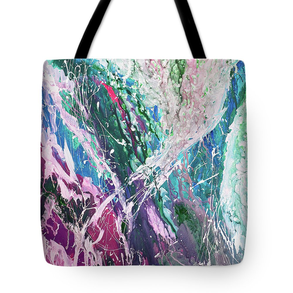 Art Tote Bag featuring the digital art Abstract Background by Balticboy