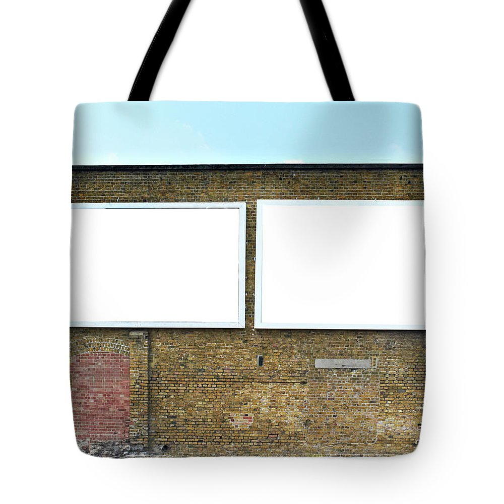 Empty Tote Bag featuring the photograph 2 Blank Billboards by Ben Richardson