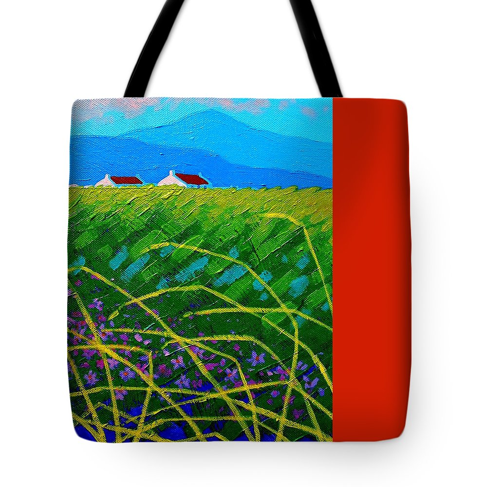 Acrylic Tote Bag featuring the painting Blue Hills by John Nolan