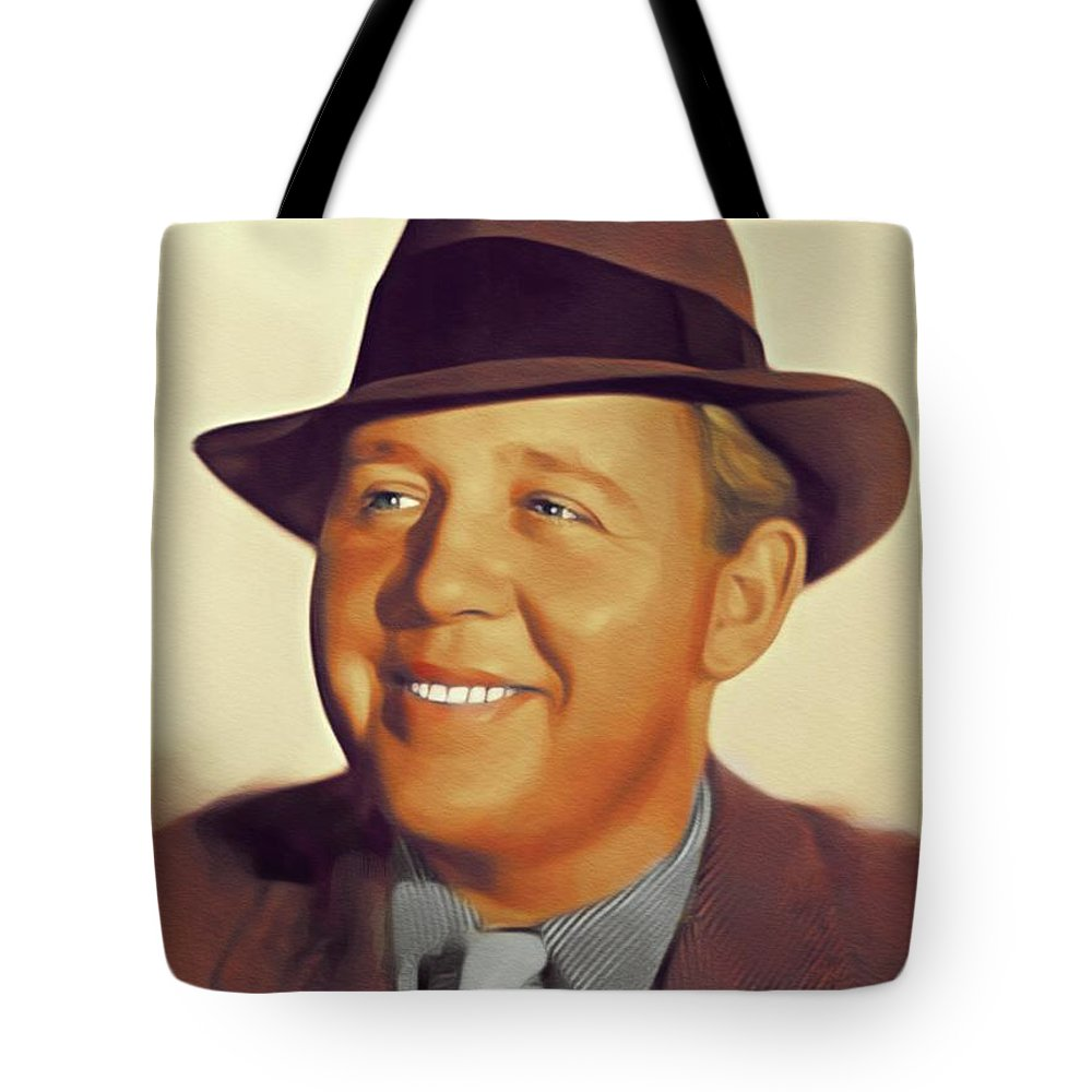 Charles Tote Bag featuring the painting Charles Laughton, Vintage Actor by John Springfield