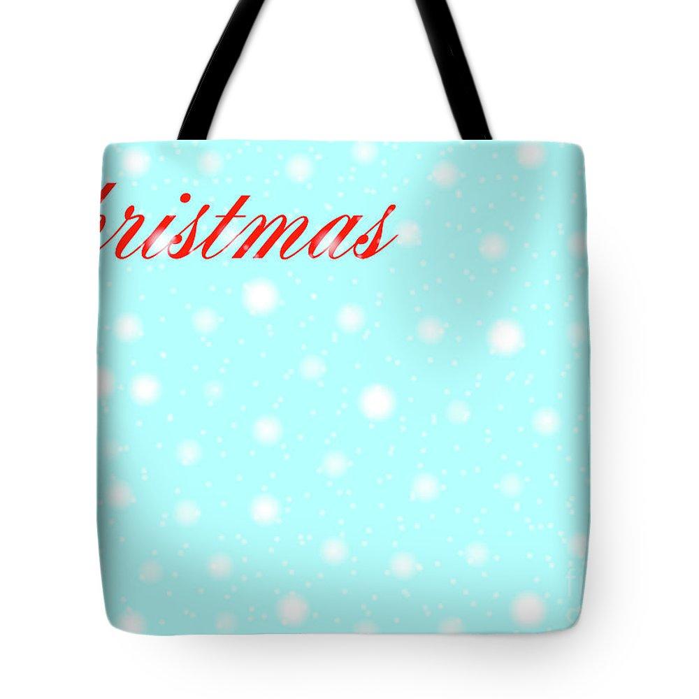 Christmas Tote Bag featuring the digital art Christmas by Bigalbaloo Stock