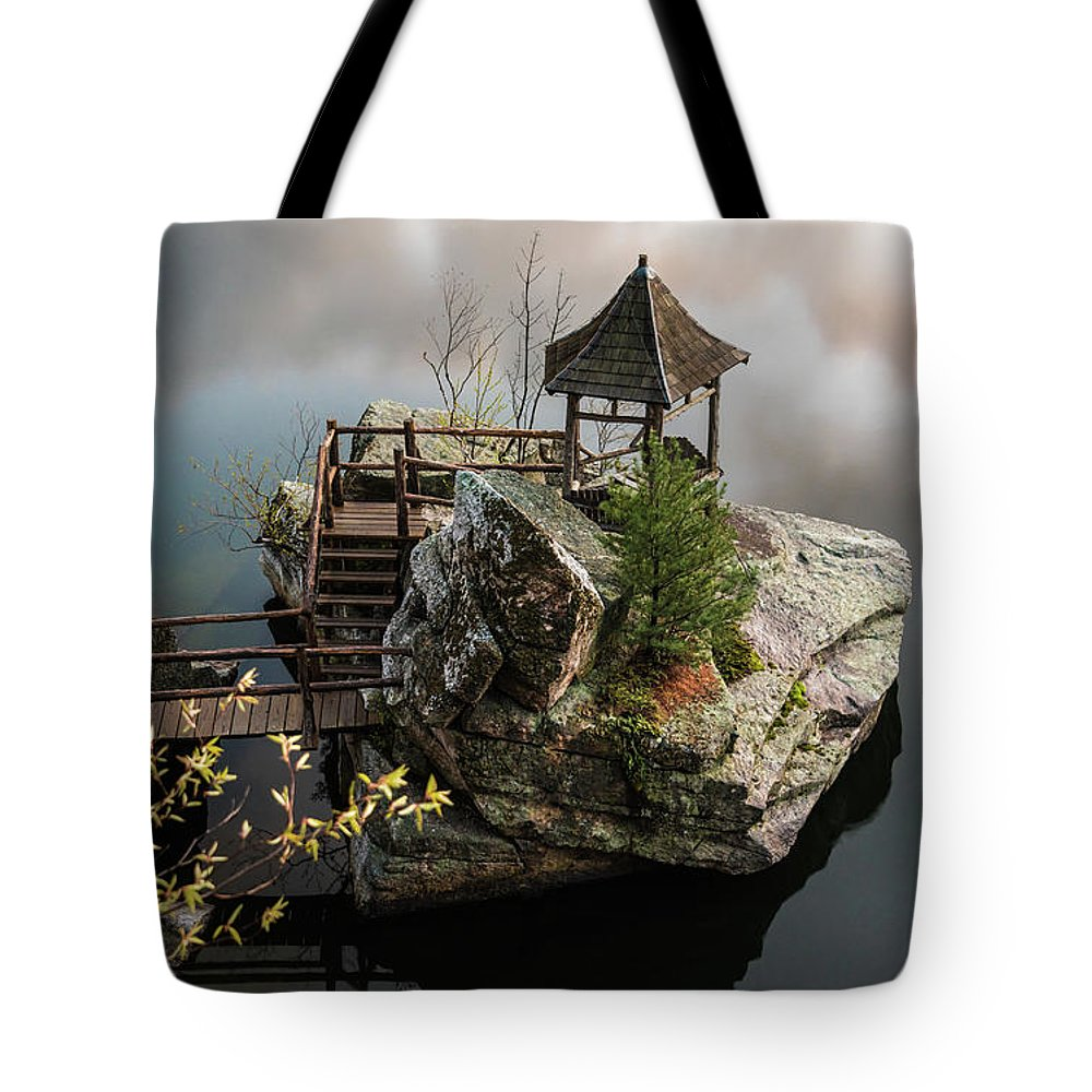 New Paltz Tote Bag featuring the photograph Floater by Kristopher Schoenleber