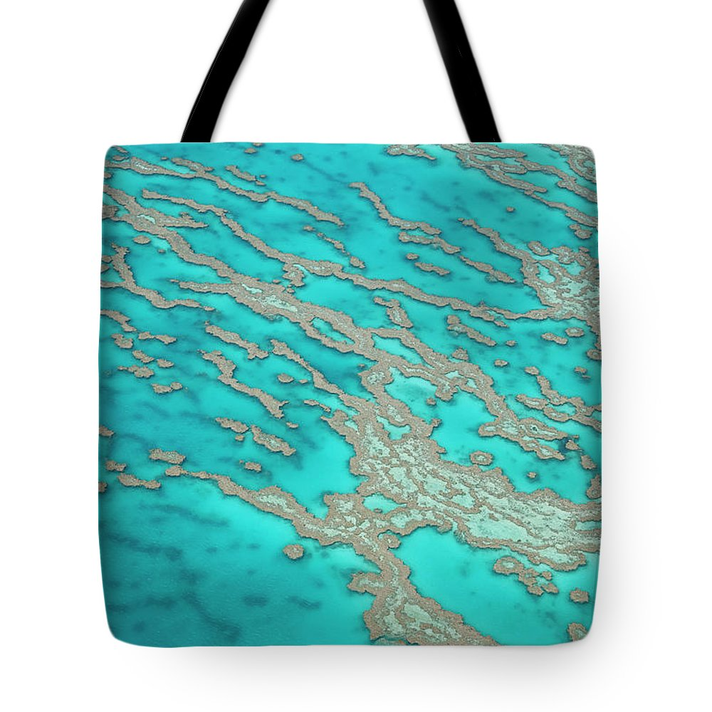 Tranquility Tote Bag featuring the photograph Great Barrier Reef, Queensland by Peter Adams