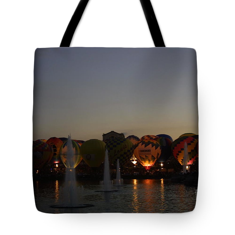 Balloon Glow Tote Bag featuring the photograph Hot Air 2018 Balloon Glow by Darren Dwayne Frazier