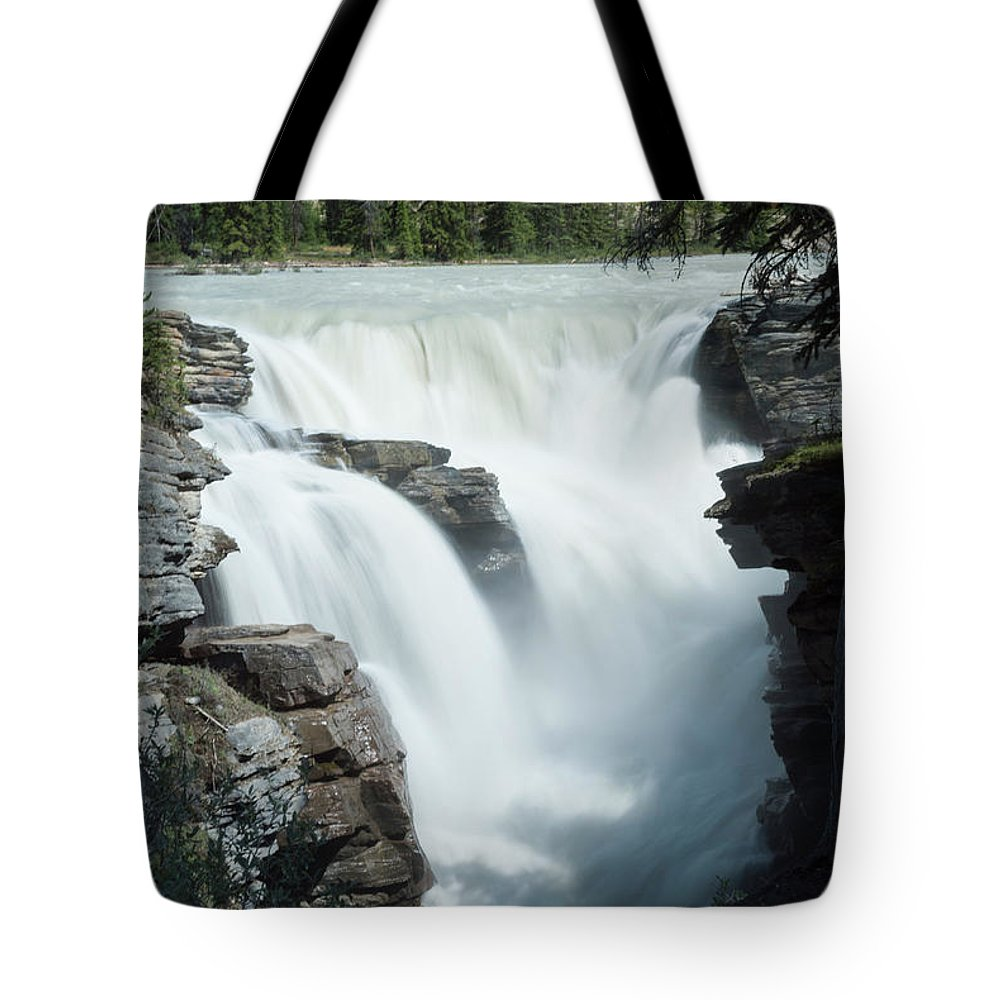 Tranquility Tote Bag featuring the photograph Icefields Parkway, Athabasca Falls by John Elk Iii