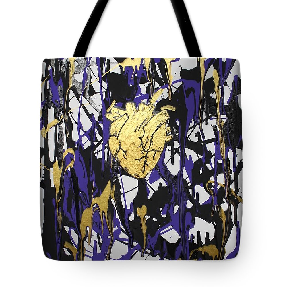 Love Tote Bag featuring the painting Madness Behind the Beauty by Sonye Locksmith