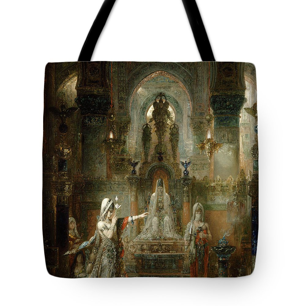 Salome Tote Bag featuring the painting Salome Dancing Before Herod by Gustave Moreau